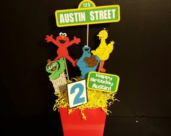 Sesame Street Party-Sesame Street Centerpieces-Sesame Street Birthday-First Birthday- Sesame Street Decorations