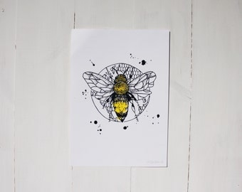 Bumble Bee | A4 Screen Print