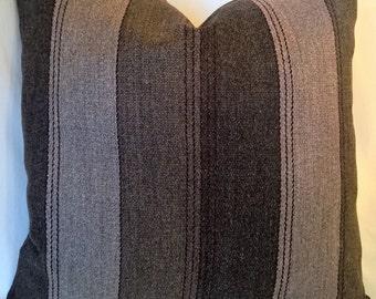 "Calvin Klein Kravet Couture Putra Stripe Italian Wool/Alpaca Pillow 18""x18"""