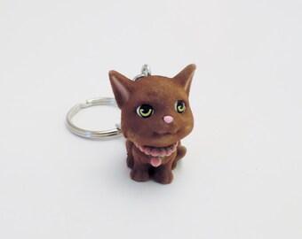 KITTY in my Pocket COCO Custom Keychain Keyring Key Holder