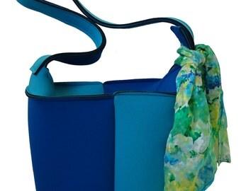 Turquoise Blue bucket bag
