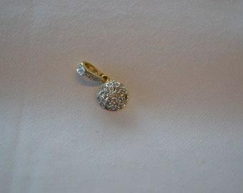 Vintage Swarovski pendant/ gold tone swarovski pendant/round pendant/vintage pendant/crystal pendant/vintage swarovski/an.138