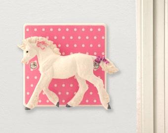 Pink Polka Dot Unicorn Light Switch - Unicorn Gift - Pink Nursery Decor - Pink Bedroom Decor - Unicorn Gifts - Baby Shower Gifts -Unicorn
