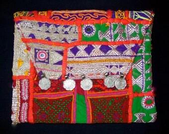 Vintage Banjara Gypsy Tribal Clutch Bag Purse W/shoulder Strap