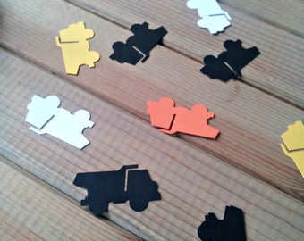 Construction Confetti - truck party - dump truck party - die cuts - party supplies - table decorations - boys birthday