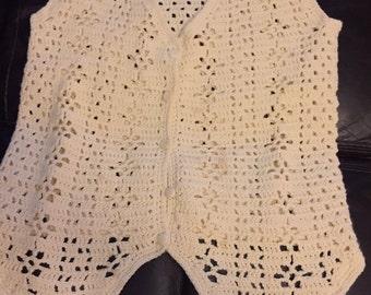 Beautiful hand crocheted waistcoat size 12