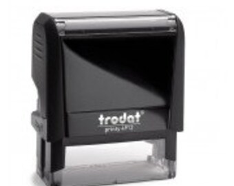 Text & Address Self inking stamp 46mm x 18mm