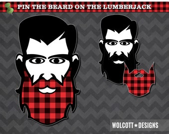 Pin The Beard On The Lumberjack, Lumberjack Party, Lumberjack Party Games, Lumberjack Party Supplies, Party Games, Beard, Movember