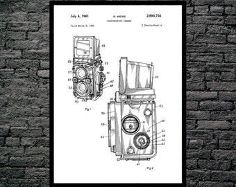 Camera Poster, Vintage Camera Patent, Vintage Camera Print, Vintage Camera, Vintage Camera Decor, Vintage Camera Blueprint, Camera