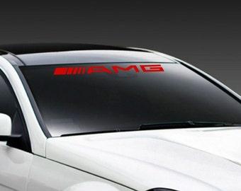 sticker autocollant de pare brise racing de amg par decals777. Black Bedroom Furniture Sets. Home Design Ideas