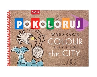"Coloring book ""Colour the City - Warsaw"""