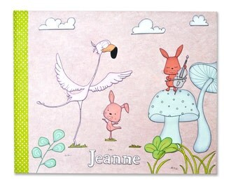 Baby memory book for girl, personalized baby girl gift, custom baby photo album, expectant parents gift idea