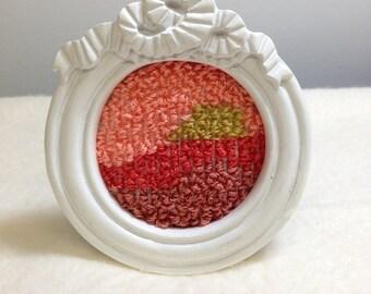 Warm Textures Mini Embroidery