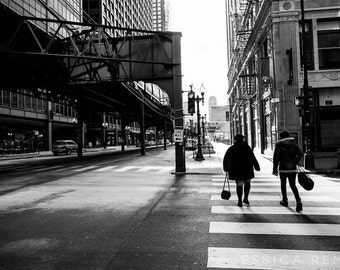 Chicago street photography black and white street art wall art