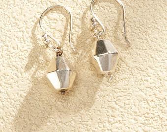 Silver Earrings 950 diamont shape