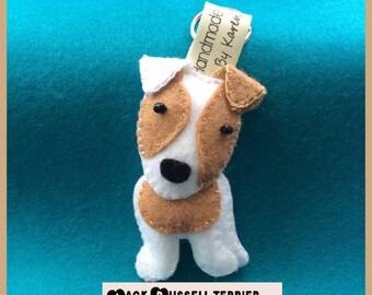 Jack Russell Terrier keyring