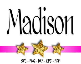 Madison Font Design Files For Use With Your Silhouette Studio Software, DXF Files, SVG Font, EPS Files, Png Font, Font Silhouette