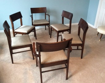 Vintage chairs dining chairs Mid century dining table chairs Set of 6