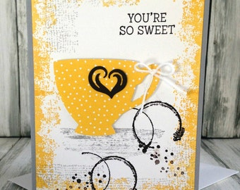 Stampin Up Handmade Greeting Card, You're So Sweet Card