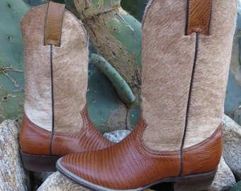 Vintage San Diego Boot Company Western Wear Cowboy Cowgirl Rodeo Cow Pony Boots Women's  Size 4-5