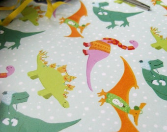 Festive Dinosaurs Gift Wrap | Wrapping Paper