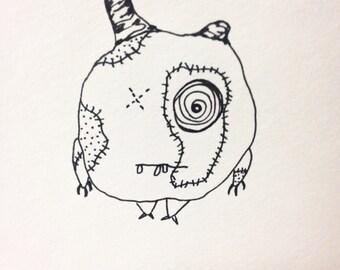 "The Mini Monster Illustrations - ""Maróg"""