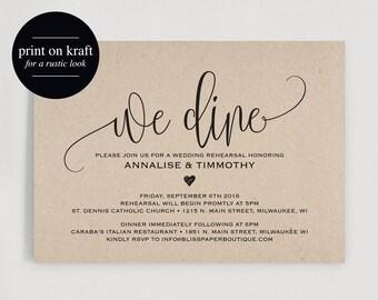 Rehearsal Dinner Invitation Printable, Rehearsal Dinner Invitation, Rehearsal Invitation, Wedding Rehearsal, PDF Instant Download #BPB243