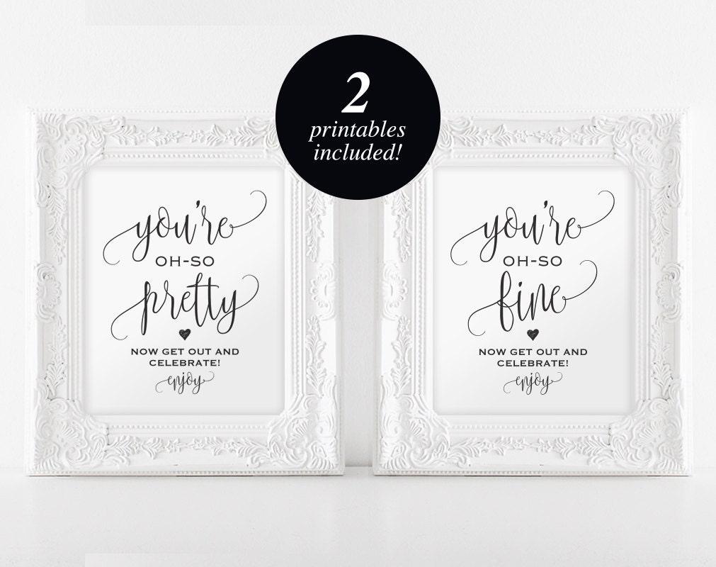 Wedding Bathroom Signs Wedding Sign Wedding Printable