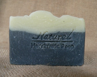 Black&White natural soap with actived charcoal