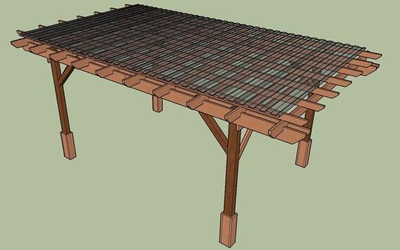 Covered Pergola Plans 12x20 4 Post Design Build Diy