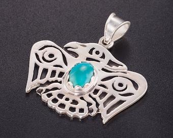 Shaman jewelry. Native necklace. eagle pendant. medicine men necklace. south west pendant. tribal pendant.turquoise necklace.