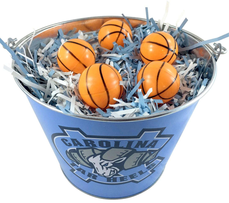 Handmade Baskets North Carolina : North carolina tar heels easter basket ncaa with basketball