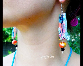 Modern Art Dangle Earrings