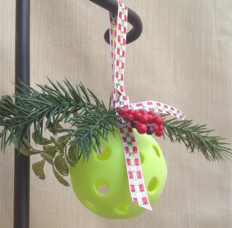 Christmas Tree Pickle Tradition: Pickleball Mistletoe Ornament