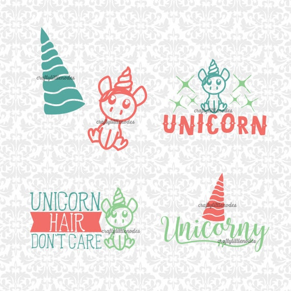 Unicorn Hair Don't Care Horn Unicorny SVG STUDIO Ai EPS Scalable Vector Instant Download Commercial Use Cutting File Cricut Silhouette