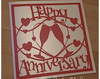 Happy Anniversary Paper Cutting Template - Commercial Use