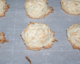 GLUTEN FREE Coconut Macaroons - One dozen, homemade, coconut cookies, Mother's Day gift, diet restricted dessert, edible gift, made to order