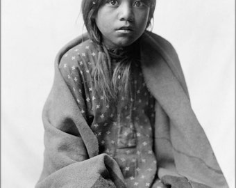 24x36 Poster . Taos Girl Native American Indian By Edward S. Curtis 1905