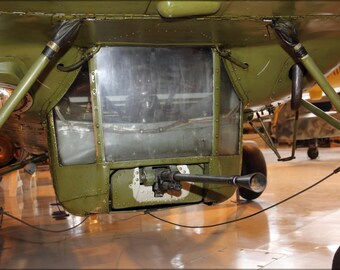 24x36 Poster . Machine Gun In Gondola Of Mil Mi-4 Helicopter (Hr-1)