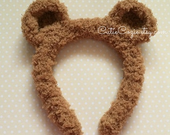 Bear Headband, Party ears, Fits babies, toddlers, teenagers, and adults! Baby shower gift, birthday gift, photo prop
