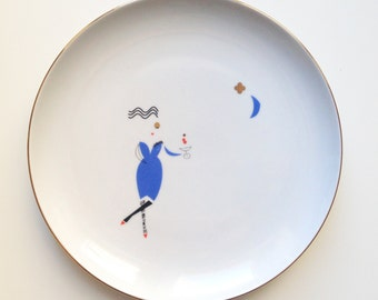 Lady - illustrated plate