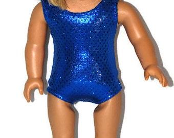 "Royal Blue Sparkle Leotard - Doll Clothes fits 18"" American Girl Dolls"