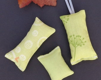 Cat Toy All Organic Catnip Fabric Gift Set of Three Light Green