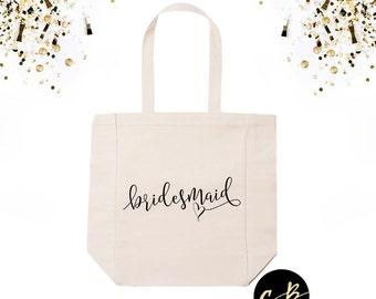 Bridesmaid Tote Bag //Bride Tote Bag // Maid of Honor Tote Bag// Wedding Tote Bag // Bridal Party Gifts // Bridesmaids' Gifts // BPT01