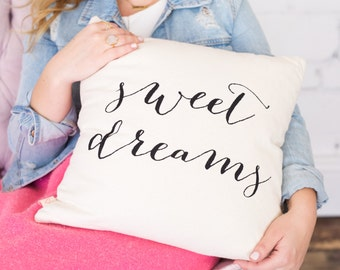 Sweet Dreams Pillow Cover, Throw Pillows, Decorative Pillow For Couch, Couch Pillow, Accent Pillow, Decorative Throw, Home Decor, Decorative