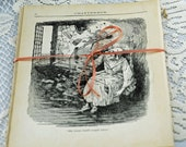 1905 Antique Book Pages, Beautifully Yellowed, Text, Illustrations Creative Projects #359 OK