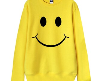 "Men Sweatshirt, Women Sweatshirt, Gift for dad, Gift for him, ""Smiley Face"" Everyone deserve a Smile, French Terry Sweater"