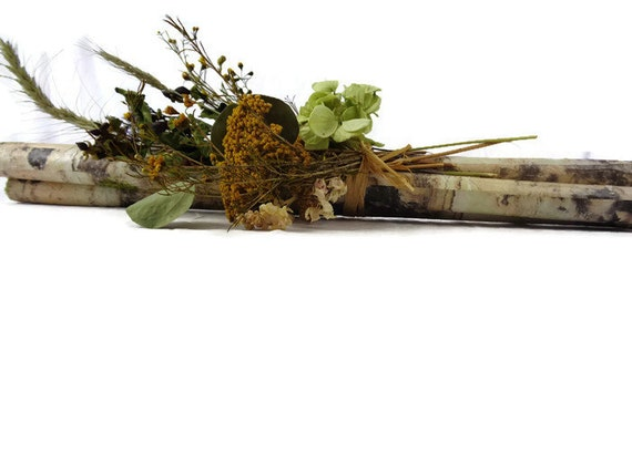 Birch branch twig centerpiece dried flower fall