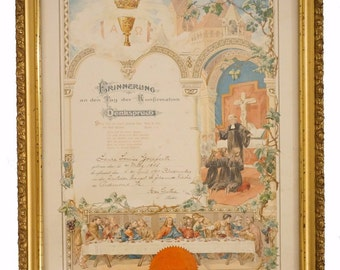 German Confirmation Certificate