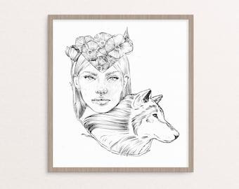 "Print ""Wolfgirl"""